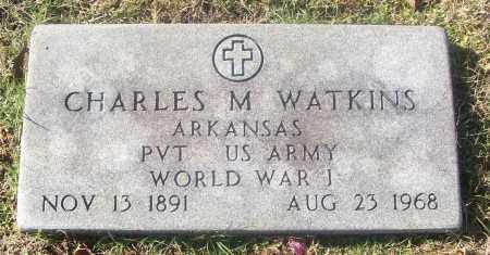 WATKINS  (VETERAN WWI), CHARLES M - White County, Arkansas | CHARLES M WATKINS  (VETERAN WWI) - Arkansas Gravestone Photos