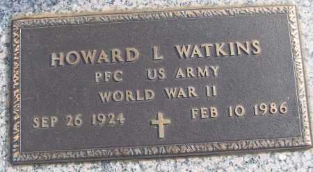 WATKINS (VETERAN WWII), HOWARD L - White County, Arkansas | HOWARD L WATKINS (VETERAN WWII) - Arkansas Gravestone Photos