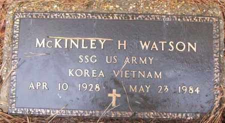 WATSON (VETERAN 2 WARS), MCKINLEY H - White County, Arkansas | MCKINLEY H WATSON (VETERAN 2 WARS) - Arkansas Gravestone Photos