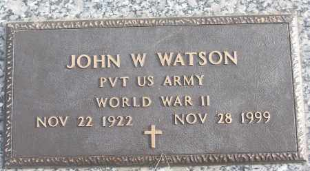 WATSON (VETERAN WWII), JOHN W - White County, Arkansas | JOHN W WATSON (VETERAN WWII) - Arkansas Gravestone Photos