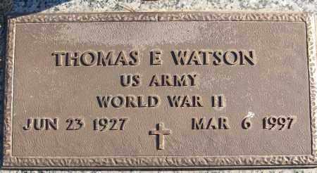 WATSON (VETERAN WWII), THOMAS E - White County, Arkansas | THOMAS E WATSON (VETERAN WWII) - Arkansas Gravestone Photos