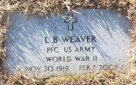 WEAVER (VETERAN WWII), L B - White County, Arkansas | L B WEAVER (VETERAN WWII) - Arkansas Gravestone Photos