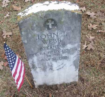 WEBB  (VETERAN), JOHN L - White County, Arkansas | JOHN L WEBB  (VETERAN) - Arkansas Gravestone Photos