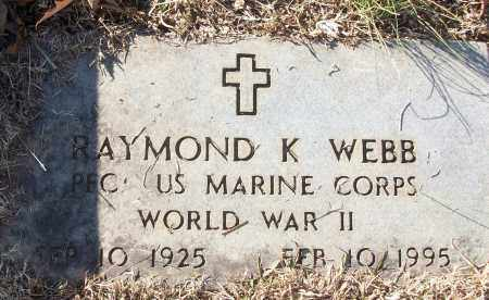WEBB (VETERAN WWII), RAYMOND K - White County, Arkansas | RAYMOND K WEBB (VETERAN WWII) - Arkansas Gravestone Photos