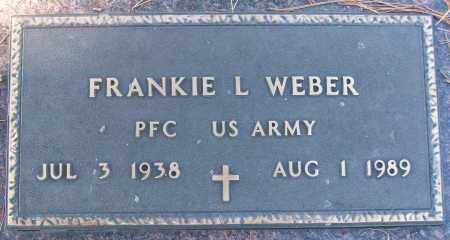 WEBER (VETERAN), FRANKIE L - White County, Arkansas | FRANKIE L WEBER (VETERAN) - Arkansas Gravestone Photos