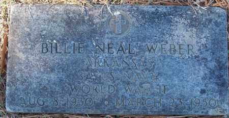 WEBER (VETERAN WWII), BILLIE NEAL - White County, Arkansas | BILLIE NEAL WEBER (VETERAN WWII) - Arkansas Gravestone Photos