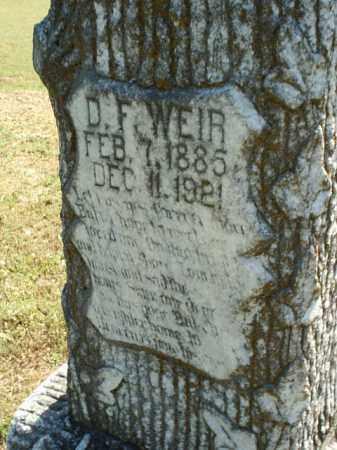 WEIR 2, D F - White County, Arkansas | D F WEIR 2 - Arkansas Gravestone Photos