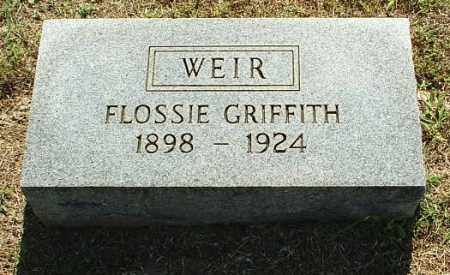 GRIFFITH WEIR, FLOSSIE - White County, Arkansas | FLOSSIE GRIFFITH WEIR - Arkansas Gravestone Photos