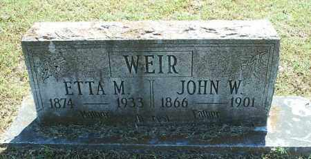 WEIR, ETTA M - White County, Arkansas | ETTA M WEIR - Arkansas Gravestone Photos