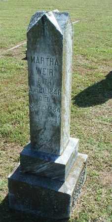 WEIR, MARTHA - White County, Arkansas | MARTHA WEIR - Arkansas Gravestone Photos
