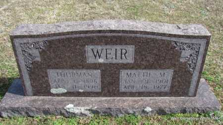 WEIR, THRUMAN - White County, Arkansas | THRUMAN WEIR - Arkansas Gravestone Photos