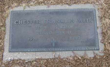 WEIR (VETERAN WWII), CHESTER FRANKLIN - White County, Arkansas | CHESTER FRANKLIN WEIR (VETERAN WWII) - Arkansas Gravestone Photos