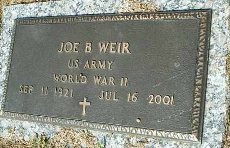 WEIR (VETERAN WWII), JOE B - White County, Arkansas | JOE B WEIR (VETERAN WWII) - Arkansas Gravestone Photos