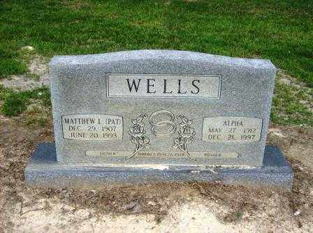 WELLS, ALPHA - White County, Arkansas | ALPHA WELLS - Arkansas Gravestone Photos