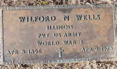 WELLS (VETERAN WWI), WILFORD N - White County, Arkansas | WILFORD N WELLS (VETERAN WWI) - Arkansas Gravestone Photos