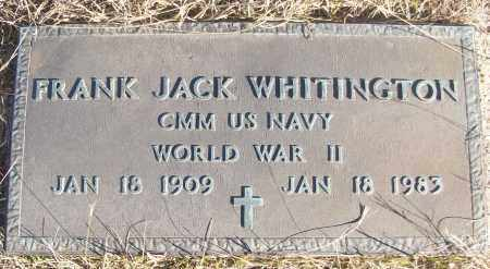 WHITINGTON (VETERAN WWII), FRANK JACK - White County, Arkansas | FRANK JACK WHITINGTON (VETERAN WWII) - Arkansas Gravestone Photos