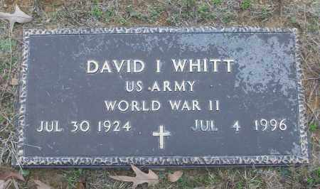WHITT (VETERAN WWII), DAVID I - White County, Arkansas | DAVID I WHITT (VETERAN WWII) - Arkansas Gravestone Photos