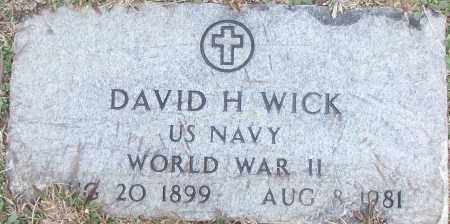 WICK (VETERAN WWII), DAVID H - White County, Arkansas | DAVID H WICK (VETERAN WWII) - Arkansas Gravestone Photos