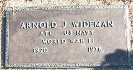 WIDEMAN (VETERAN WWII), ARNOLD J - White County, Arkansas | ARNOLD J WIDEMAN (VETERAN WWII) - Arkansas Gravestone Photos