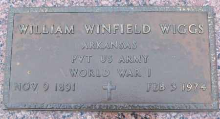 WIGGS (VETERAN WWI), WILLIAM WINFIELD - White County, Arkansas | WILLIAM WINFIELD WIGGS (VETERAN WWI) - Arkansas Gravestone Photos
