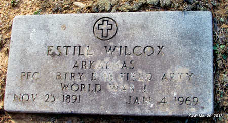 WILCOX (VETERAN WWI), ESTILL - White County, Arkansas | ESTILL WILCOX (VETERAN WWI) - Arkansas Gravestone Photos