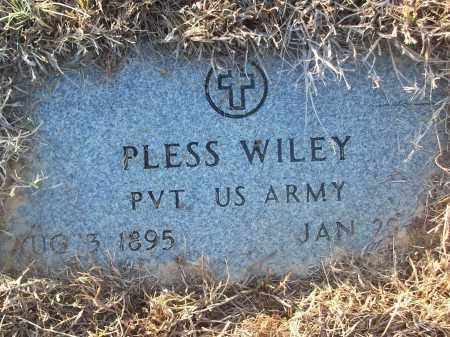 WILEY (VETERAN), PLESS - White County, Arkansas | PLESS WILEY (VETERAN) - Arkansas Gravestone Photos