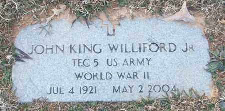 WILLIFORD, JR (VETERAN WWII), JOHN KING - White County, Arkansas | JOHN KING WILLIFORD, JR (VETERAN WWII) - Arkansas Gravestone Photos