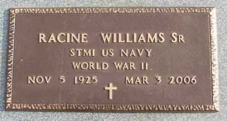 WILLIAMS, SR (VETERAN WWII), RACINE - White County, Arkansas | RACINE WILLIAMS, SR (VETERAN WWII) - Arkansas Gravestone Photos