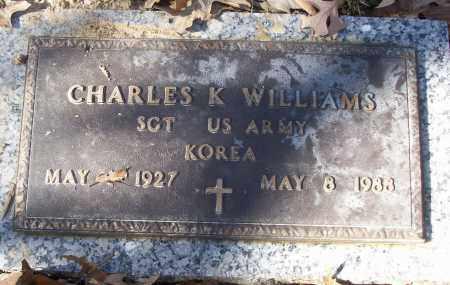 WILLIAMS (VETERAN KOR), CHARLES K - White County, Arkansas   CHARLES K WILLIAMS (VETERAN KOR) - Arkansas Gravestone Photos