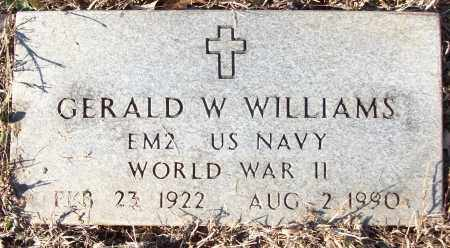 WILLIAMS (VETERAN WWII), GERALD W - White County, Arkansas | GERALD W WILLIAMS (VETERAN WWII) - Arkansas Gravestone Photos