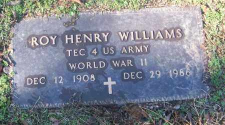 WILLIAMS (VETERAN WWII), ROY HENRY - White County, Arkansas | ROY HENRY WILLIAMS (VETERAN WWII) - Arkansas Gravestone Photos