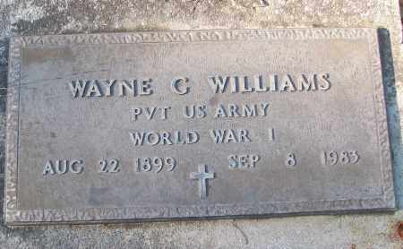 WILLIAMS (VETERAN WWI), WAYNE G - White County, Arkansas | WAYNE G WILLIAMS (VETERAN WWI) - Arkansas Gravestone Photos