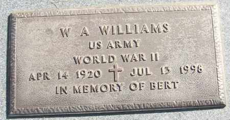 WILLIAMS (VETERAN WWII), W A - White County, Arkansas | W A WILLIAMS (VETERAN WWII) - Arkansas Gravestone Photos