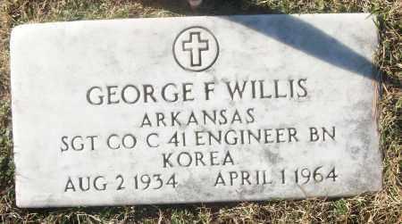 WILLIS (VETERAN KOR), GEORGE F - White County, Arkansas | GEORGE F WILLIS (VETERAN KOR) - Arkansas Gravestone Photos