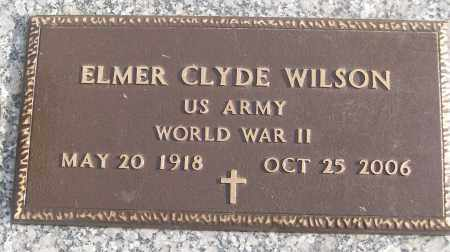 WILSON (VETERAN WWII), ELMER CLYDE - White County, Arkansas | ELMER CLYDE WILSON (VETERAN WWII) - Arkansas Gravestone Photos