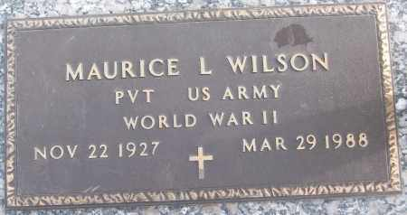 WILSON (VETERAN WWII), MAURICE L - White County, Arkansas | MAURICE L WILSON (VETERAN WWII) - Arkansas Gravestone Photos