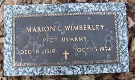 WIMBERLEY  (VETERAN), MARION L - White County, Arkansas | MARION L WIMBERLEY  (VETERAN) - Arkansas Gravestone Photos