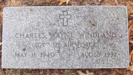 WINDLAND (VETERAN), CHARLES WAYNE - White County, Arkansas | CHARLES WAYNE WINDLAND (VETERAN) - Arkansas Gravestone Photos