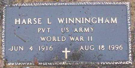 WINNINGHAM (VETERAN WWII), HARSE L - White County, Arkansas | HARSE L WINNINGHAM (VETERAN WWII) - Arkansas Gravestone Photos
