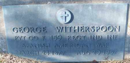 WITHERSPOON (VETERAN SAW), GEORGE - White County, Arkansas | GEORGE WITHERSPOON (VETERAN SAW) - Arkansas Gravestone Photos