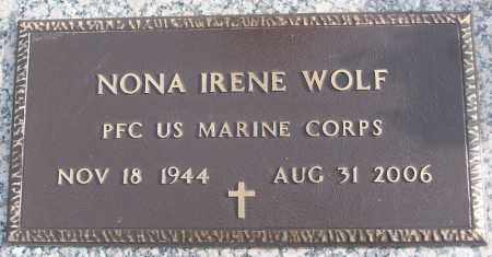 WOLF (VETERAN), NORA IRENE - White County, Arkansas | NORA IRENE WOLF (VETERAN) - Arkansas Gravestone Photos