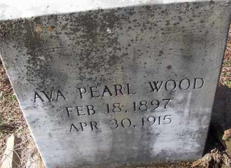 WOOD, AVA PEARL - White County, Arkansas | AVA PEARL WOOD - Arkansas Gravestone Photos