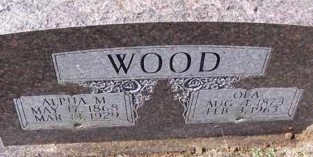 WOOD, OLA - White County, Arkansas | OLA WOOD - Arkansas Gravestone Photos