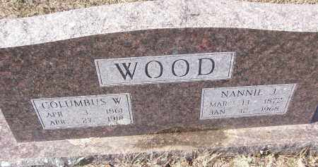 WOOD, NANNIE J. - White County, Arkansas | NANNIE J. WOOD - Arkansas Gravestone Photos