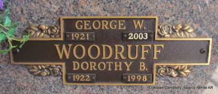 WOODRUFF  (VETERAN), GEORGE W - White County, Arkansas | GEORGE W WOODRUFF  (VETERAN) - Arkansas Gravestone Photos