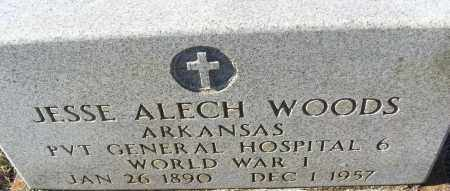 WOODS (VETERAN WWI), JESSE ALECH - White County, Arkansas   JESSE ALECH WOODS (VETERAN WWI) - Arkansas Gravestone Photos