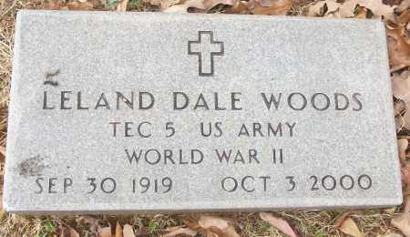 WOODS (VETERAN WWII), LELAND DALE - White County, Arkansas | LELAND DALE WOODS (VETERAN WWII) - Arkansas Gravestone Photos