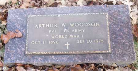 WOODSON  (VETERAN WWI), ARTHUR W - White County, Arkansas | ARTHUR W WOODSON  (VETERAN WWI) - Arkansas Gravestone Photos