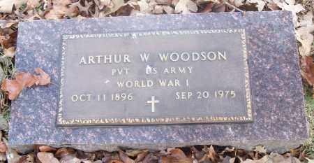 WOODSON  (VETERAN WWI), ARTHUR W - White County, Arkansas | ARTHUR W WOODSON  (VETERAN WWI) - Arkansas Gravestone Photos