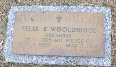 WOOLDRIDGE (VETERAN), FELIX E - White County, Arkansas | FELIX E WOOLDRIDGE (VETERAN) - Arkansas Gravestone Photos